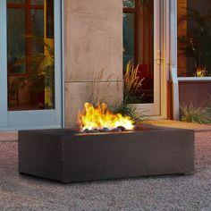 Real Flame Baltic 50×32″ Rectangular Kodiak Brown Fire Pit