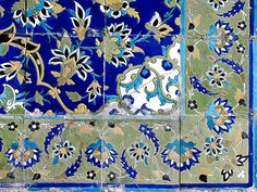 Tiles, Isfahan by horizon
