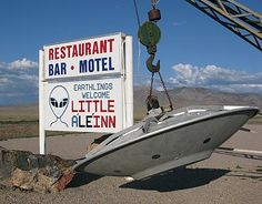 In an amusing article, science writer Geoff Notkin, sort of investigates Area 51 in Nevada