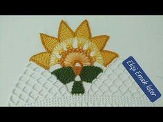 {YENİ} Çok Konuşulan HAVLU Kenarı Modeli 123. ÖRNEK - YouTube Felt Flowers, Crochet Flowers, Crochet Lace, Creative Embroidery, Baby Knitting Patterns, Smocking, Free Pattern, Diy And Crafts, Elsa