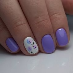 Nail art Christmas - the festive spirit on the nails. Over 70 creative ideas and tutorials - My Nails Purple Nail Designs, Flower Nail Designs, Cool Nail Designs, Silver Nails, Purple Nails, May Nails, Hair And Nails, French Nails, Cute Nails