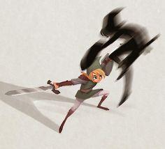 Esses desenhos deixam Link muito diferente do que conhecemos