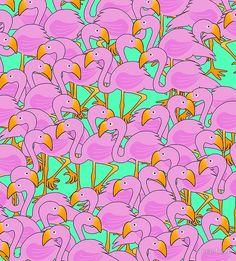 'Fun Flamingos' Sleeveless Top by imagology Quartz Clock Mechanism, Hand Coloring, Flamingo, Kids Rugs, It Is Finished, Clocks, Fabric, Prints, Fun