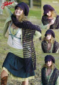 Wonderful grid scarf with matching cap. Knitted Hats, Blog, Handmade, Fashion, Threading, Moda, Hand Made, Fashion Styles, Blogging