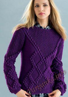 Пуловер (ж) 22*125 Phildar №4889
