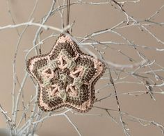 Christmas Star hanging decoration  3D by LillaBjornCrochet on Etsy