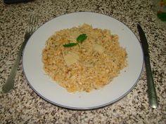 Na Cozinha com os J's: Risoto de Frango com Parmesão e Ervas Grains, Rice, Food, Chicken Parmigiana, Chicken Risotto, Herbs, Cook, Recipes, Essen