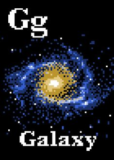 G is for Galaxy Space Alphabet Cross Stitch Pattern by HugsAreFun