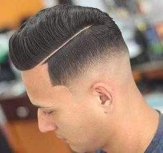 Deep Parted Quiff with Skin fade - Low Skin Fade Haircut - Diet - Fashion - Woman's And Classic Mens Hairstyles, Popular Short Hairstyles, Taper Fade, Skin Fade Comb Over, Low Skin Fade Haircut, Hard Part Haircut, Medium Hair Styles, Short Hair Styles, Ponytail Haircut