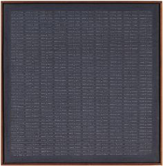 AGNES MARTIN  Untitled  1962  Oil and graphite on canvas  12 x 12 inches  30.5 x 30.5 cm  (Courtesy Private Collection)
