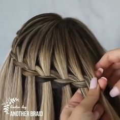 Hairdo For Long Hair, Formal Hairstyles For Long Hair, Long Hair Video, Up Hairstyles, Braided Hairstyles, Wedding Hairstyles, Waterfall Braid Tutorial, Waterfall Twist, Waterfall Braids