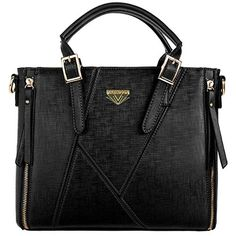 d11aa4699b0d VanGoddy Pallia Carryall Shoulder Handbag Purse BLACK -- Want additional  info  Click on the