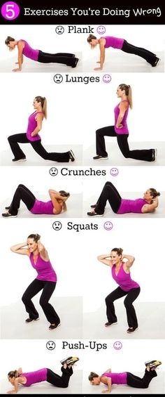 Top 5 Exercises that are done wrong - Note * The Last One are Push-Ups- Elevated Legs.