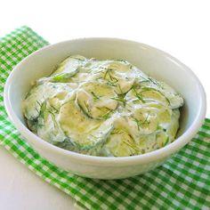 One Perfect Bite: Cucumber and Sour Cream Salad