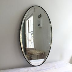 antique industrial mirror