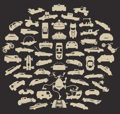 The guys from Chop Shop have come out with another great t-shirt, weGo featuring silhouettes of 55 famous vehicles. 55 different vehicles from film, television, children's books, video games and tw…
