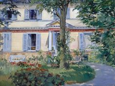Edouard Manet - The House at Rueil [1882]
