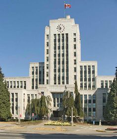 Vancouver City Hall, Vancouver, British Columbia, 1935-6.