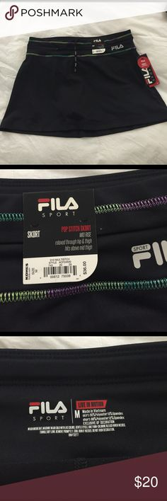 NWT Fila skirt Black skirt. Brand new with tags. Great for tennis, running, hiking, and all of your outdoor adventures! Fila Skirts