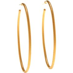 Yossi Harari Jane 24K Gold Hoop Earrings ($2,535) ❤ liked on Polyvore featuring jewelry, earrings, jewelry earrings hoop, yellow gold earrings, earring jewelry, post back earring, handcrafted jewelry and gold hoop earrings