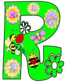 Dibujos letras primavera para imprimir