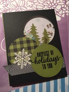 Pining for Plaid Christmas Card Crafts, Homemade Christmas Cards, Christmas Cards To Make, Christmas Paper, Xmas Cards, Pumpkin Cards, Paper Pumpkin, Fall Cards, Winter Cards