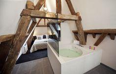 Romantische hotelkamer bij Château Holtmühle