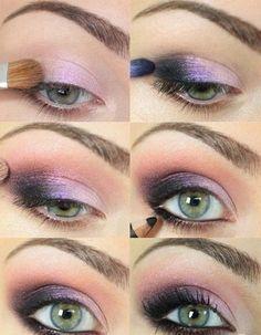 maquillaje de ojos ahumados en lilas para el dia