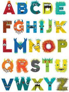 Custom designed monster alphabet for Psychobaby. Monster Inc Party, Monster 1st Birthdays, Monster Birthday Parties, 1st Boy Birthday, First Birthday Parties, First Birthdays, Birthday Ideas, Cute Monsters, Little Monsters