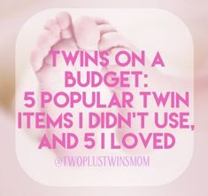 Preparing for twins can be overwhelming, especially when you're on a tight budget. There are so many items out there that are expensive and unnecessary. I've included items that you'll see on almost every registry list for twins that I didn't need, and/or regretted using. I've raised thetwins alone while my husband works out of… Read More Twins on a Budget: Popular Twin Baby Items I didn't Need for Twins, and 5 Things I Loved