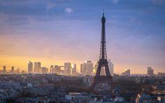 2560x1600 Wallpaper paris, tower, city