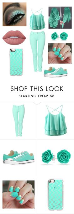 """""""Minty Fresh"""" by dancelover5683 ❤ liked on Polyvore featuring Kenzo, Converse, Bling Jewelry, SoGloss, Casetify and Lime Crime"""