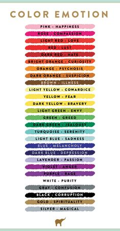 Emotions of Colour - humans often attach symbolic meaning to colour too. This…