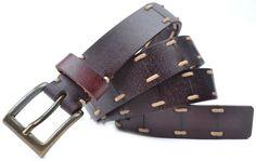 Особое дизайн винтажный стиль прошитой узкие кожа подлинная ремень ручной работы ремень купить в магазине Martinica Belt на AliExpress