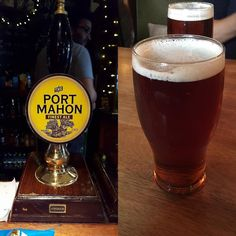 A pint of #portmahon in the pub of the same name in Oxford #adventuresinale