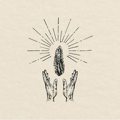 Nuestro maíz, como divino. Long live Santo Maíz. Ilustración para Trasfonda, restaurante en Guadalajara que abrirá muy pronto. #diseñomexicano #mentawork #illustration