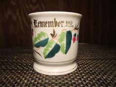 Remember Me Antique Shaving Mug Porcelain Germany ? Vintage by NewOxfordVintage on Etsy