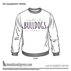 Show your spirit on game day in this awesome long sleeve