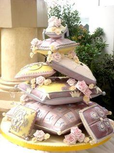 pillow cake @Mandy Bryant Dewey Seasons Bridal