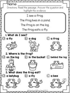 Free reading comprehension for early readers and special education kindergarten worksheets ideas beginning comprehension worksheets Picture Comprehension, Reading Comprehension Activities, Teaching Reading, Learning, Comprehension Strategies, Guided Reading, First Grade Worksheets, Free Kindergarten Worksheets, In Kindergarten