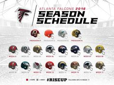 The Atlanta Falcons 2016 Schedule.