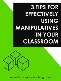 Math manipulatives are amazing instructional tools that truly enhance math lessons and make certain concepts easier for students grasp. But...they can also be a real pain to actually use in the classroom! In this blog post, you'll learn three tips for effectively using math manipulatives, including storage and organization, allowing play at times, and questioning and consistency. If you need help in this area, then click through to read the post! #math #manipulatives #classroomorganization