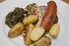 Grünkohl mit Kasseler, Mettwürstchen und Kartoffeln (Rezept mit Bild)   Chefkoch.de