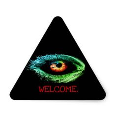 Custom Creepy Zombie/Monster Eye Pyramid Sticker  $5.20  by GalXC_Designs  - cyo customize personalize unique diy idea