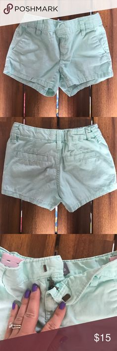 Old Navy Girls Shorts - Mint 100% cotton // practically brand new // adjustable waist // hook closure Old Navy Bottoms Shorts
