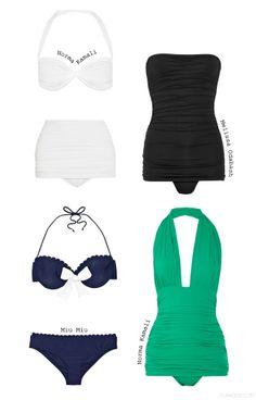 Retro swimwear. I love the white.