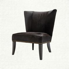 Holden Leather Armless Chair in Brindle Angus