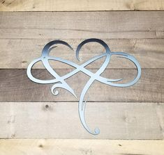Infinity Sign Metal Wall Art Metal Infinity Symbol and Heart Rustic Modern Wall Decor Love Wall Sign Wedding Gifts Anniversary Gift Love Infinity Heart, Infinity Symbol, Infinity Signs, Cnc Plasma, Metal Tree Wall Art, Metal Artwork, Metal Projects, Metal Crafts, Art Projects