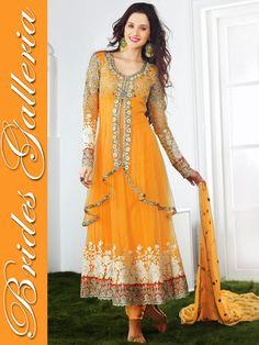 Mango Yellow Anarkali Suit