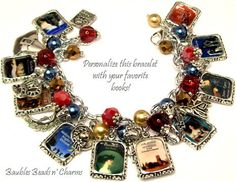 This is my new bracelet. You can customize your own thanks to a brilliant artist. Here is the Etsy listing at https://www.etsy.com/listing/177886519/your-favorite-books-charm-bracelet